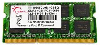 Память SODIMM DDR3 4096MB PC10666 1333MHz G.skill