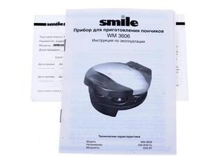 Пончик-мейкер Smile WM 3606 черный, белый