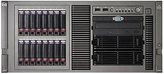 437438-421 Proliant ML370R05 E5335 (Rack5U XeonQC 2.0Ghz(2x4Mb/)2x1Gb/P400(256Mb/RAID5/1/0)/noHDD(8)SFF)/CDnoFDD/iLO2std/2xGEth)