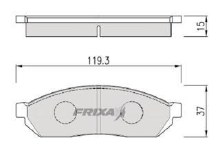 Тормозные колодки Hankook Frixa FPD07