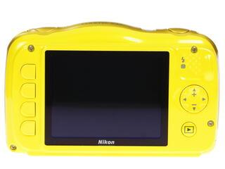 Компактная камера Nikon Coolpix S33 желтый + рюкзак
