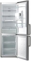 Холодильник с морозильником Samsung RL56GWGIH серебристый