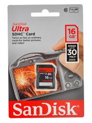 Карта памяти SanDisk Ultra SDSDU-016G-U46 SDHC 16 Гб