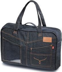 Накидка на сиденье H&R SPIN FRONT передняя, джинс. тк., черная