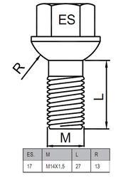 Болты-секретки HEYNER ZA 42541