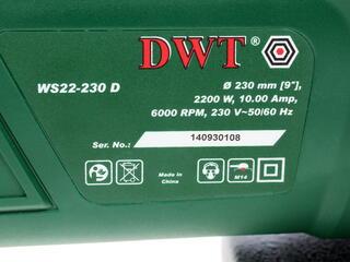 Углошлифовальная машина DWT WS 22-230 D
