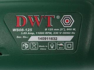 Углошлифовальная машина DWT WS 08-125