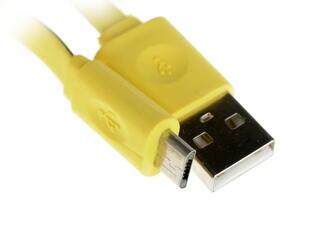 Кабель InterStep USB - micro USB черный, желтый