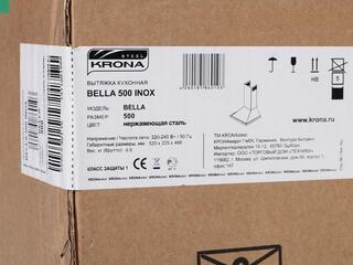 Вытяжка каминная Kronasteel Bella 500 inox серебристый