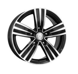 Автомобильный диск литой K&K да Винчи 7x16 5/112 ET 49 DIA 57,1 Алмаз черный