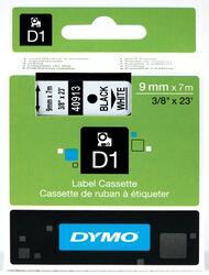Термолента DYMO D1 9ммх7м, чер./бел.