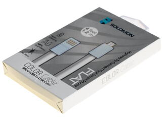 Кабель Solomon USB - micro USB белый