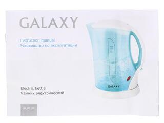 Электрочайник Galaxy GL 0104 белый, голубой