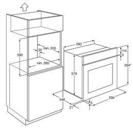 Электрический духовой шкаф AEG BE3002421B