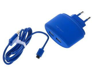 Сетевое зарядное устройство Vertex TC2USBMICUSBBL
