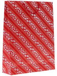 Пакет подарочный Линии с узорами на красном