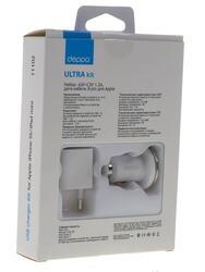 Сетевое + автомобильное зарядное устройство Deppa Ultra 11102