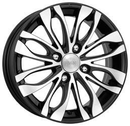 Автомобильный диск Литой K&K Канзаши 5,5x14 4/100 ET 39 DIA 54,1 Алмаз черный