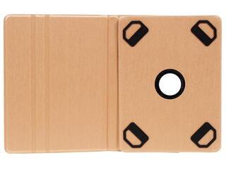 """Чехол-книжка для планшета универсальный 10.1""""  золотистый"""