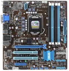 Плата ASUS LGA1155 P8Q77-M Q77 4xDDR3-1600 PCI-Ex16 DP/DVI/DSub 8ch 4xSATA 2xSATA3 2xUSB3 GLAN mATX