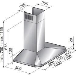 Вытяжка каминная Korting KHC 9951 X серебристый