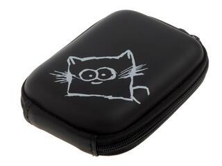 Чехол OKS Focus кошка L черный