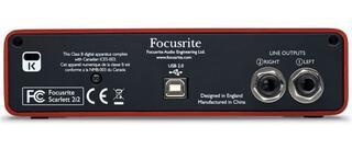 Внешняя звуковая карта Focusrite Scarlett 2i2