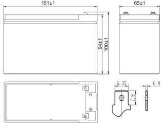 Аккумуляторная батарея для ИБП Delta HR 12-28W