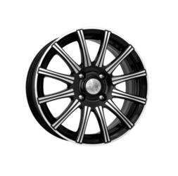 Автомобильный диск Литой K&K Сиеста 7x16 4/100 ET 37 DIA 67,1 Алмаз черный