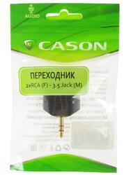Переходник Cason 3.5 mm jack - RCA x2