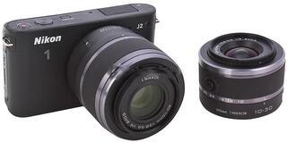 Системная камера Nikon 1 J2 Kit + 10-30mm VR + 30-110 VR black