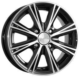 Автомобильный диск Литой K&K Аттика 5,5x14 4/100 ET 43 DIA 67,1 Алмаз черный