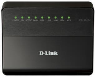Маршрутизатор ADSL2+ D-Link DSL-2740U/NRU/BA/C5/B1/T1A
