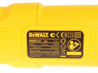 Углошлифовальная машина DeWalt DWE4151