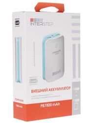 Портативный аккумулятор InterStep IIS-AK-PB7800UWB-000B201 белый, голубой