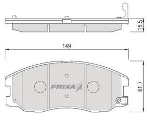 Тормозные колодки Hankook Frixa FPD16