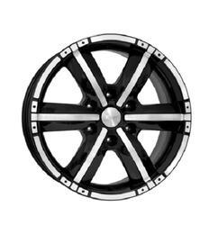 Автомобильный диск  K&K Окинава 8x18 6/139,7 ET 25 DIA 106,1 Алмаз черный
