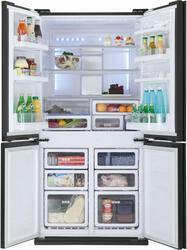 Холодильник с морозильником Sharp SJFS97VBK черный