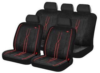 Чехол на сиденье H&R LEADER черный/красный
