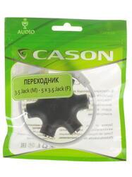 Переходник Cason 3.5 mm jack - 3.5 mm jack x5