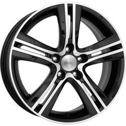 Автомобильный диск литой K&K Борелли 6,5x16 5/114,3 ET 52,5 DIA 67,1 Алмаз черный