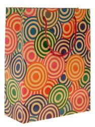 Пакет подарочный Цветные круги