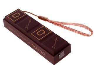 Портативный аккумулятор Qumo Шоколадка коричневый