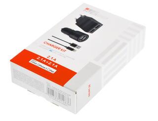 Сетевое + автомобильное зарядное устройство InterStep IS-CK-IPAD52KRT-000B201