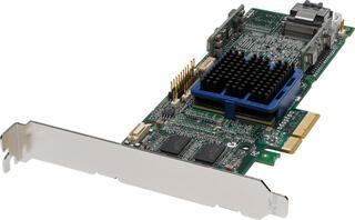 Контроллер Adaptec ASR-3405 (PCI-E x4, LP) SAS/SATAII, RAID 0,1,10,5,6,50, 4port(intSFF8087), 128Mb, каб