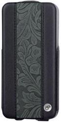 Чехол для телефона Belsis для iPhone5 флип, черный/серый узор