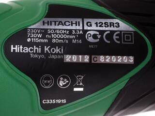Углошлифовальная машина Hitachi G12SR3