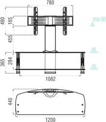 Стол с кронштейном MetalDesign 562.1220