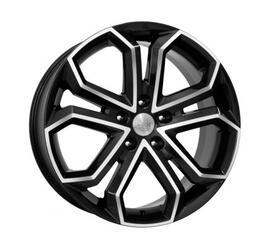 Автомобильный диск литой K&K Пандора 8,5x19 5/120 ET 42 DIA 67,1 Алмаз черный