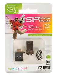 Память OTG USB Flash Silicon Power T01 Mobile  32 ГБ